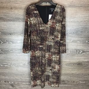 Karen Kane Print Sheath Dress NWT